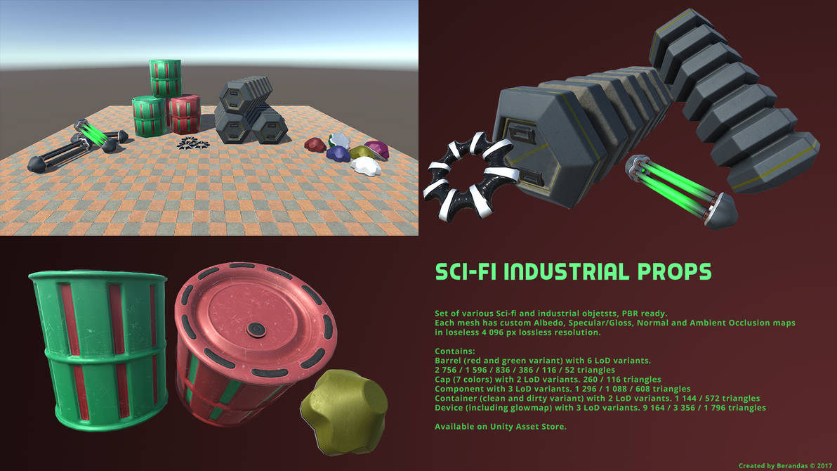 Sci-Fi Industrial Props Pack by Berandas