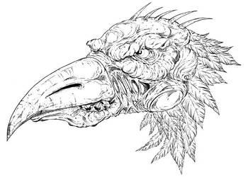 Bird alien by Alentrix