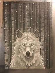 White wolf by Alentrix