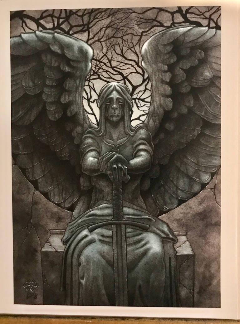 Angel statue by Alentrix