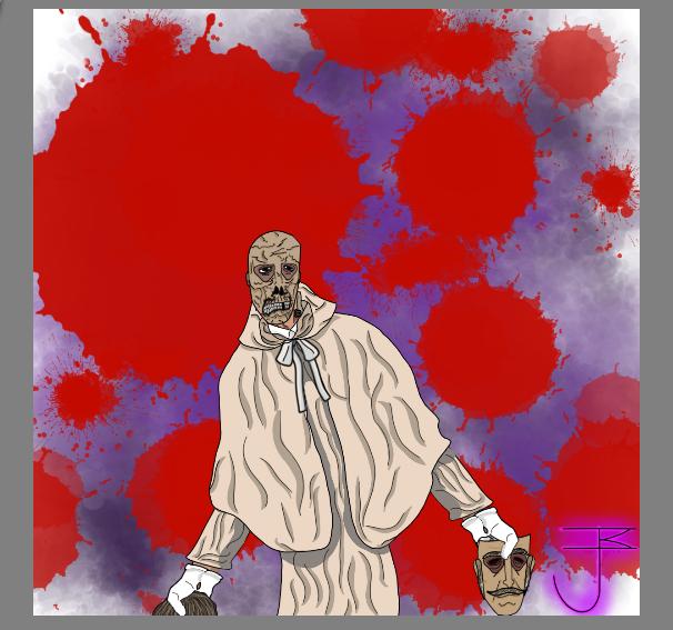 Doctor Anton Phibes, Unmaskedbackround by SegeantLongbridge