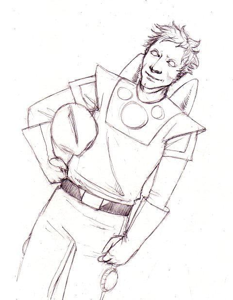 Spaceman- sketchmeme for Toji by nastenka