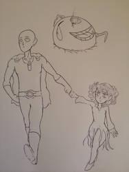 Saitama and Tats vs The Smiling Emoji Omega God  by Donthedemon0