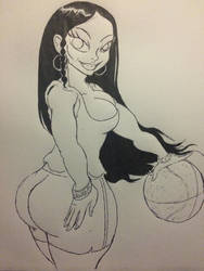 Nicki wants to play ball by Donthedemon0