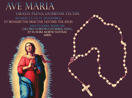 Wallpaper: Ave Maria by La-Belle-Araignee