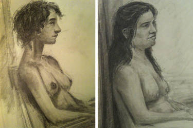 Figure drawing practice by WickedOffKiltah