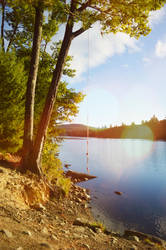 Rope Swing at Minnehonk Lake by WickedOffKiltah