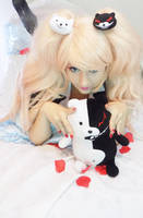 Enoshima Junko and Monokuma: Goodmorning! by AliceNero