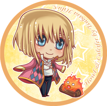 Howl and Calcifer by tsubasahiluxisz