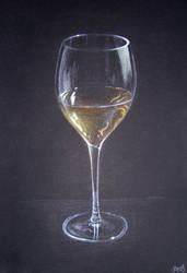 Glass of wine by bengo-matus