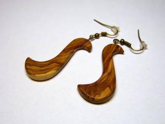 Wooden earrings 3 by bengo-matus