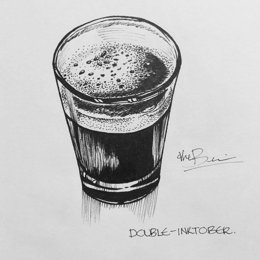 Double - Inktober2018 by debbie07