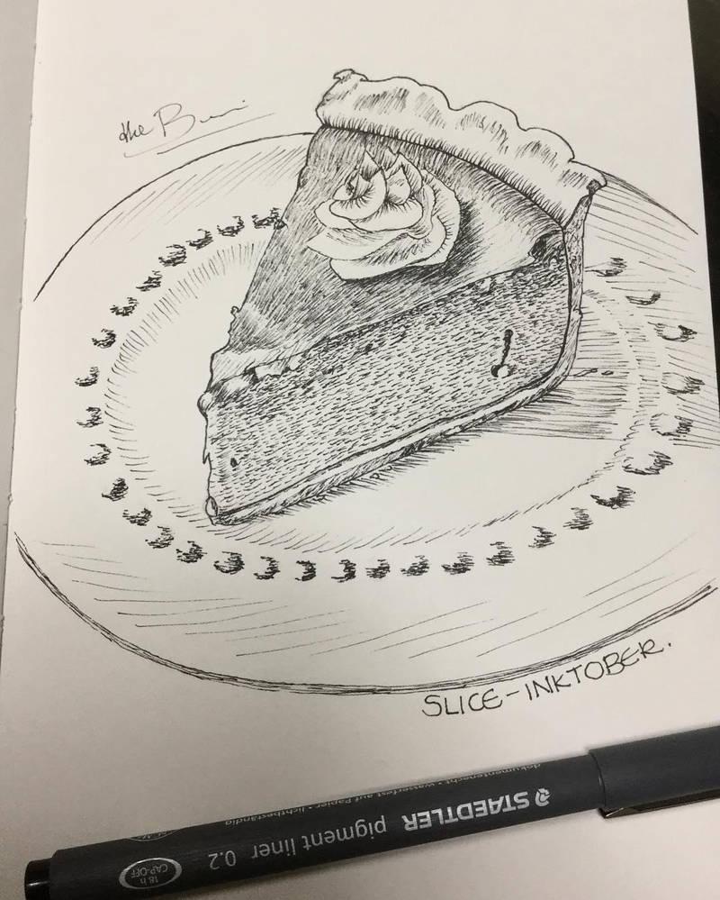 Slice - Inktober2018 by debbie07
