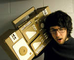 Elbow deep in cardboard. by Tokyo-Explosion