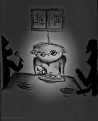 My drawings: fear/solitude by GabrielePintaudi