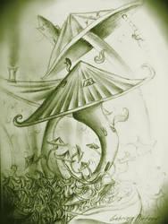 My drawings: Magic mushroom by GabrielePintaudi