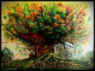 My drawings: tree by GabrielePintaudi