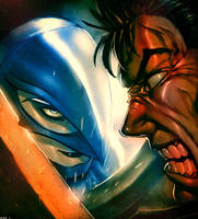 Gatsu vs Grifis by Orathio