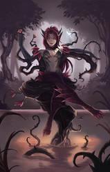 Fanart: Zyra - Throne of Thorns by MarianaEnnes