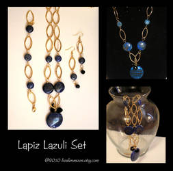 Lapiz Necklace Set by Healersmoon