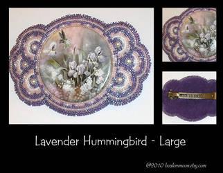 Hummingbird Beaded Barrette by Healersmoon