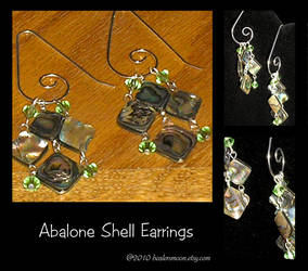 Abalone and Crystal Earrings by Healersmoon