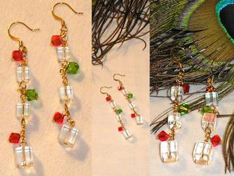 Christmas Crystal Earrings by Healersmoon