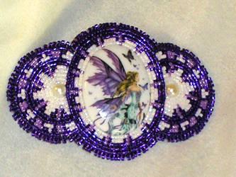 Purple Fairy Barrette by Healersmoon