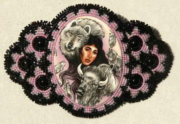 Native Girl Barrette by Healersmoon