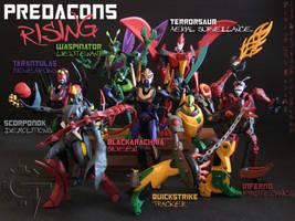 TFA Beast Wars Predacons by Gizmo-Tracer