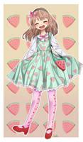 Mint Watermelon! by Kisuuu3