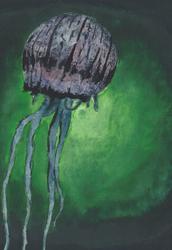 Jellyfish Watercolor by NegativeSanction