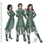 Kuvira newest officers by Pronon1990