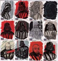 STAR WARS Sketchcards - Darth Vader by DenisM79