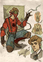 Spider-Man Steampunk Re-Design by DenisM79