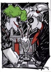 Joker and Harley - Rockabilly Universe by DenisM79
