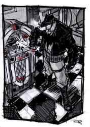Batman at the Jukebox - Rockabilly Universe by DenisM79