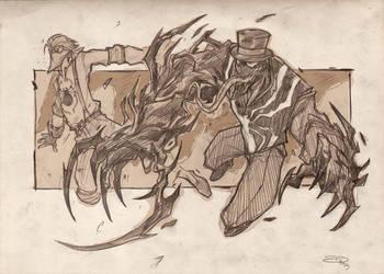 Steampunk Spiderman - Spidey VS Venom  2013 by DenisM79