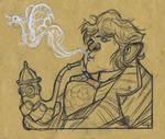 The Hobbit - Smoking Bilbo by DenisM79