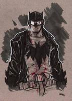 Rockabilly Batman sketch by DenisM79