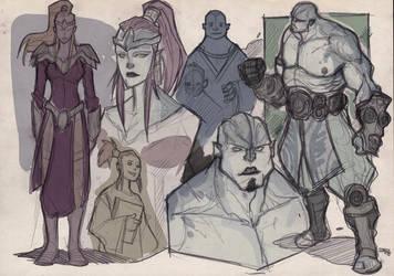 The Armagondas - Rona and Masagan sketches 2014 by DenisM79