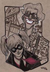 Rockabilly Joker and Harley by DenisM79