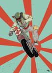 Star Wars 80s High School - Biker Boba Fett by DenisM79