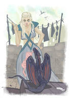 Games of Thrones- Daenerys spiteful dragons 2015 by DenisM79