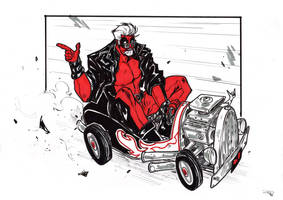 Rockabilly Deadpool by DenisM79
