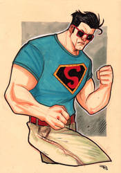 Rockabilly Superman by DenisM79