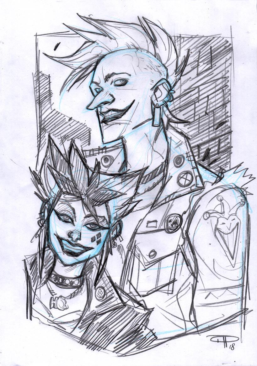 Joker and Harley Punk by DenisM79
