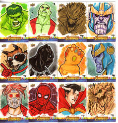 Avengers : Infinity War - Sketch Cards by DenisM79