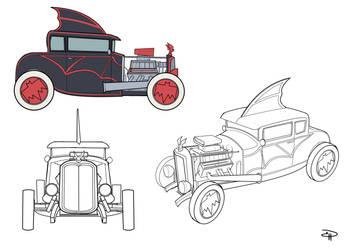 Rocakbilly Batman - collectibles samples Batmobile by DenisM79