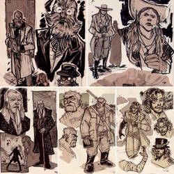Old Western Sketches by DenisM79